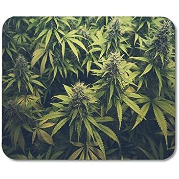Marijuana Plastic Leaf Mouse Pad Gaming Mousepad PC Laptop Computer Weed Pot
