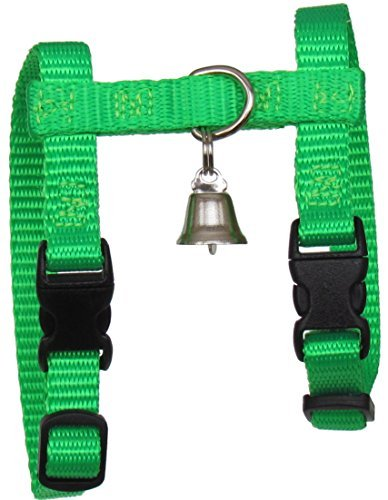 Image of Sandia Pet Products Neon Green Ferret Harness with Bell