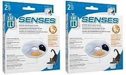 Catit Design Senses Replacement Water Filtering Cartridge, 2-Pack (4-Pack)