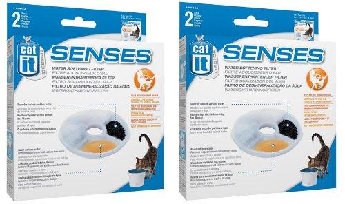 (Catit Design Senses Replacement Water Filtering Cartridge, 2-Pack (4-Pack))