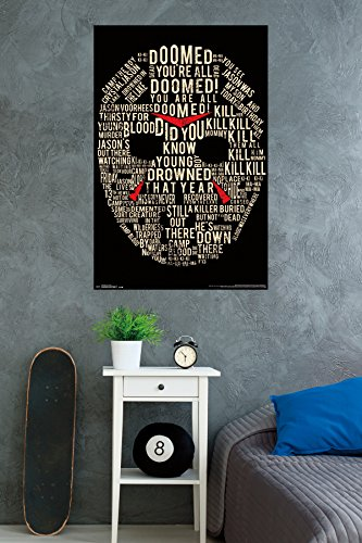 Trends International Friday The 13th Text Mask Wall Poster 2