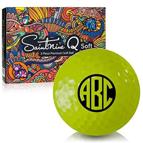 Saintnine Q ソフトイエローモノグラムパーソナライズゴルフボール   B07QHXFZ5Y