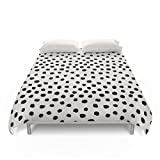 Society6 Preppy Brushstroke Free Polka Dots Black And White Spots Dots Dalmation Animal Spots Design Minimal Duvet Covers King: 104'' x 88''