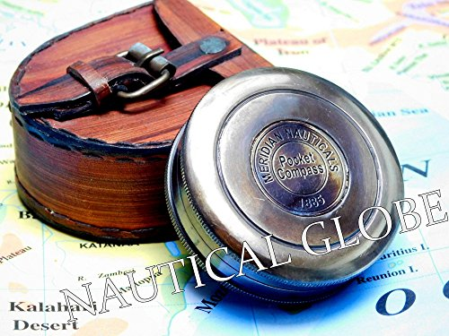 "Meridian Nauticals decor gift item 2"" Brass maritime antique vintage pocket compass maritime nautical decor steampunk maritime vintage item for indoor & out door use"