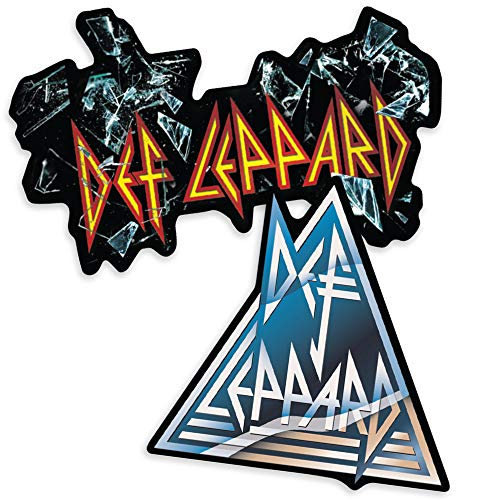 Popfunk Def Leppard Rock Band Shattered Logo Collectible Stickers
