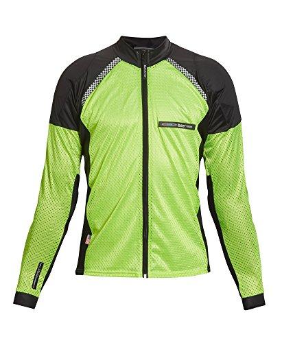 Bohn All-Season Airtex Armored Riding Shirt - High Visibility Yellow - Large (Best Kevlar Jeans 2019)