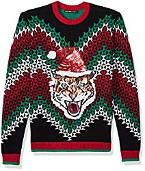 Men's Ugly Christmas Sweater Cat