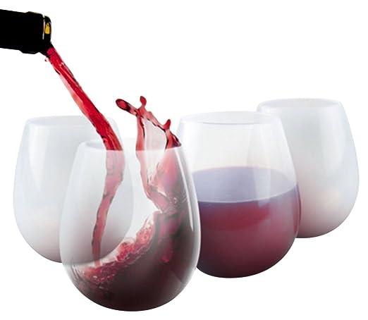 Kail 4pcs silicona copas de vino 340 El irrompible Walker plástico ...