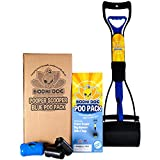 New Complete Poo Pack | Pooper Scooper, Poop Bags, and Pet Dog Waste Bag Holder (Blue)