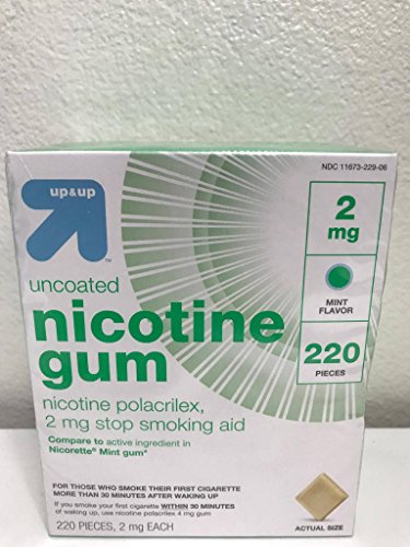 Nicotine Polacrilex 2 mg Uncoated Mint Gum 220