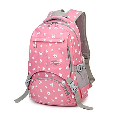 MATMO Korean Style Children Kids Schoolbag Pawprint Student Backpack for Girls