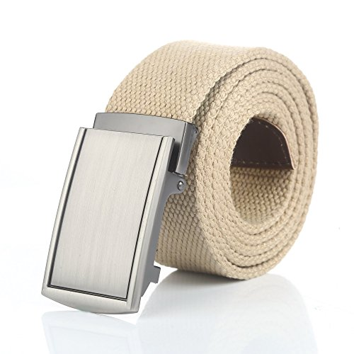 Gelante Canvas Web Belts Adjustable Durable Military Style - 2037 Beige