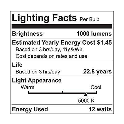 GE Lighting 96852 Dimmable LED 12-watt (75-watt Replacement), 1000-Lumen PAR30 Light Bulb with Medium Base, Daylight, 1-Pack