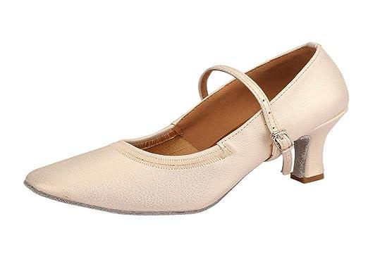 WNGO_ShoeS Mocasines de Baile para Mujer Rumba Waltz para Baile ...