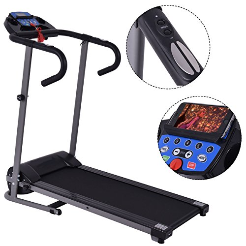 G&Gonline 1100W Folding Treadmill Electric Support Motorized Power Running Fitness Machine