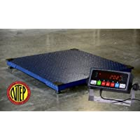 US Made Certified NTEP Floor Scale with Tara TR-1-NK Indicator (48x48)