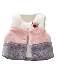 Tenworld B Baby Girls Winter Waistcoats Vest Princess Outerwear Jacket Coats 6M-24M