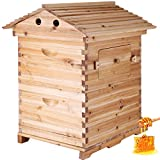 Happybuy 2 Layers Bee Hive Frames Wooden House Automatic Honey Bee...