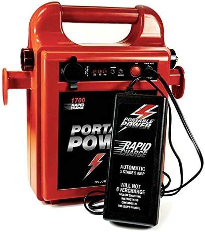 Portable Power Arrancador de energía portátil Simple 12 V 1700RC Pack de Carga rápida 2 m Longitud de Cable: Amazon.es: Coche y moto