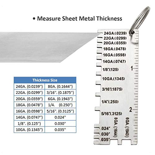 Wire//Metal Sheet Gauge Material and wire thickness with the Miller