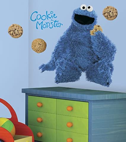 ~Sesame Street~Kids Room Wall Decal 3D Reusable Large Stickers CUT OUT Version