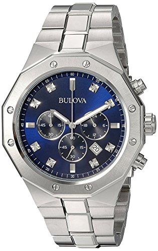 Bulova Men's 44mm Stainless Steel Diamond Watch