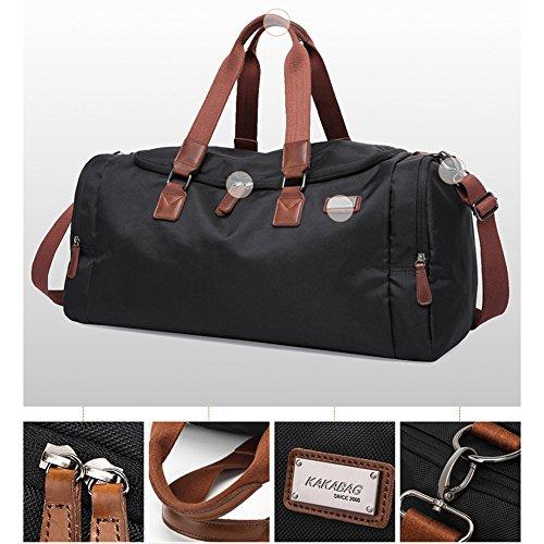 gossipboy Herren Oversized Leinwand Reise Gepäck Tasche Weekend Duffel Handtaschen Oxford Crossbody-Tasche Gym Large Sports Schultertasche
