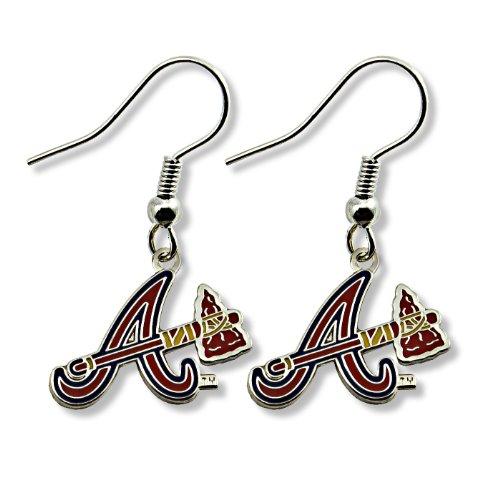 MLB Atlanta Braves Logo Dangler Earrings ()
