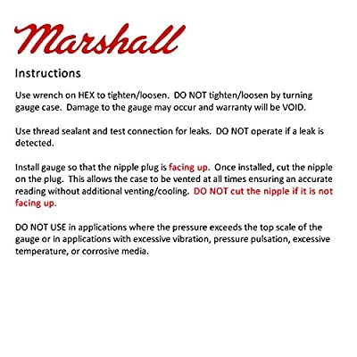 Marshall Instruments LS00015 Silver Dial Fuel Pressure Gauge: Automotive