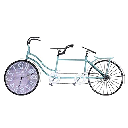 WYJW Decoración de Pared Reloj de Pared, Forma de Bicicleta en ...