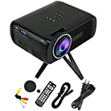 Maxby® Mini Projector, MAXBY EB-Q3 Portable 1200 Lumens LED Pico Projector for Home Cinema Entertainment, Support Smartphone PC Laptop TV Box DVD USB SD for Party/Gathering/Games/Outdoor Activities, (EB-Q3+Black)