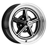 Mustang Wheel Magstar Alloy 5 Lug 15x7 Gloss Black 1964 1/2 - 1973 - Legendary Wheel Co.