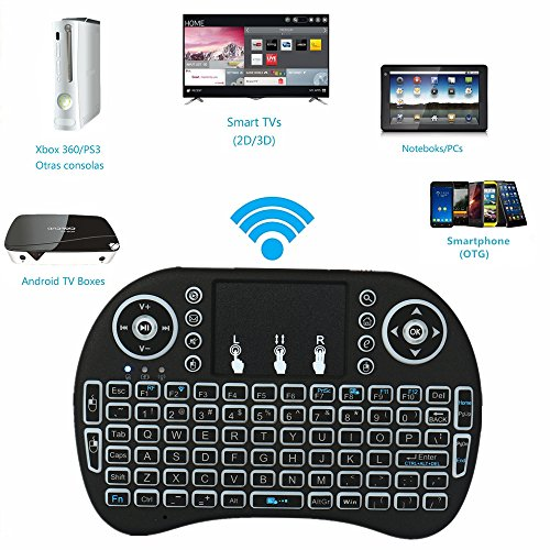 Latest Jabond 2.4G Chargeable Backlit Mini Keyboard Portable Handheld Wireless Keyboard and Mouse with Touchpad for PC/Pad/XBOX 360/PS3/Google Android TV BOX/HTPD/IPTV