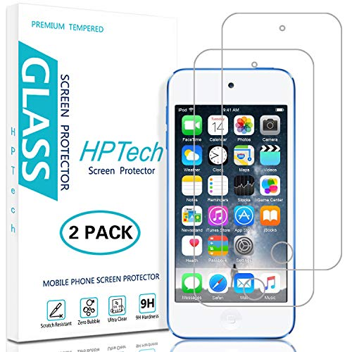 (HPTech Screen Protector for iPod Touch - (2-Pack) [Japan Tempered Glass] for Apple New iPod Touch (7th Gen 2019 Released / 6th & 5th Generation) with Lifetime Replacement Warranty)