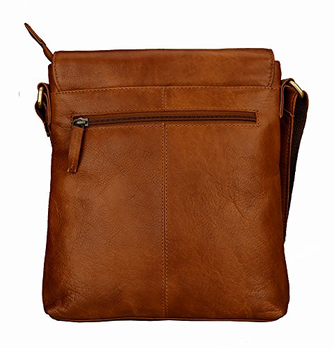 Bag Crossover Leather Crossbody Brown Shoulder Finelaer wX4qHFA