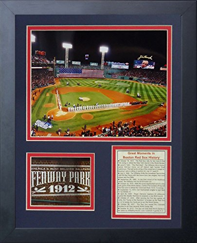 Legends Never Die Fenway Park 2013 World Series Framed Photo Collage, 11 by 14-Inch - Sox Art Glass