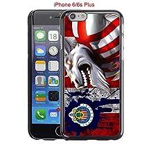 iPhone 6 Plus Case, iPhone 6S Plus Cases, Chivas Guadalajara CD Soccer Team Logo 20 Drop Protection Never Fade Anti Slip Scratchproof Black Hard Plastic Case