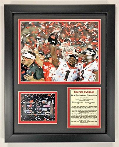 Georgia Bulldogs Gift (University of Georgia Bulldogs - 2018 Rose Bowl Champions - Framed 12