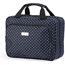 Hanging Toiletry Travel Bag for Women by SAFARI - Large Waterproof Cosmetic Organizer Kit with Clear Compartments - TSA Approved