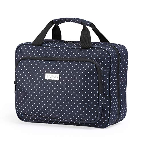 c0bdcc778757 Hanging Travel Toiletry Bag for Women by SAFARI (Polka Dot) - Large  Waterproof Organizer