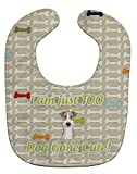 "Caroline's Treasures BB5816BIB Too Cute Wire Haired Fox Terrier Baby Bib, 10 x 13"", multicolor"
