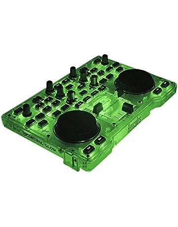 Hercules DJ Control Glow - Consola DJ con 2 ruedas Jog y effectos de luz,