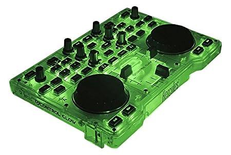 DJ Hercules DJ Control Glow Consola DJ color verde y negro Jog