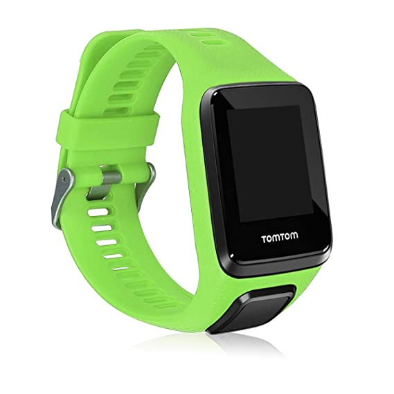 kwmobile Silicone Watch Strap for Tomtom Adventurer/Runner 3/Spark 3/Golfer 2 - Fitness Tracker Replacement Band - Sports Wristband Bracelet with ...