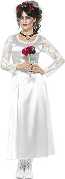 Smiffys Disfraz de Novia del día de Muertos, Blanco, con Vestido y ...