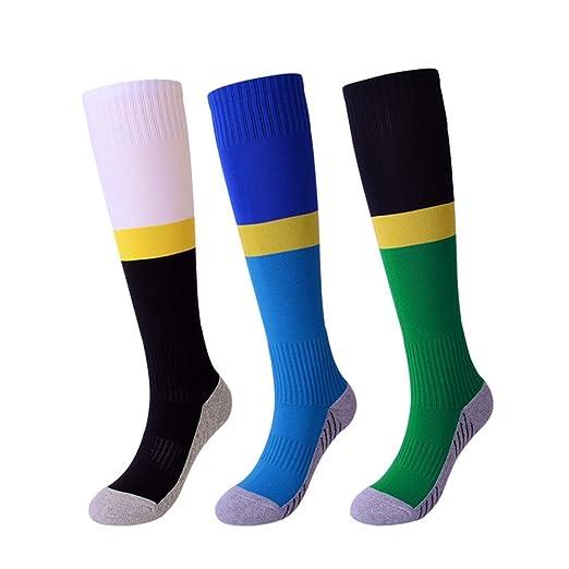 Lingqiqi Calcetines de Color Baloncesto Junior con cojín de Aire ...