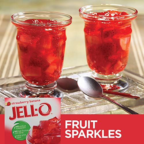 Jell-O Strawberry Banana Gelatin Dessert Mix, 3 oz Box by Jell-O (Image #4)