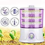 Ochoos Gardening 220V Automatic1.5L Household 3-layers Multifunctional Bean Sprouts Machine - Garden Pots & Planters