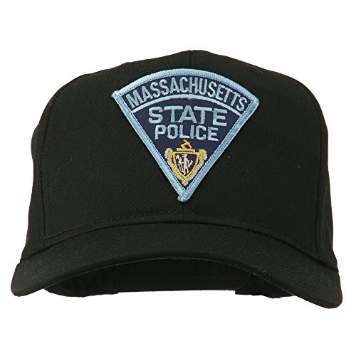 (e4Hats.com Massachusetts State Police Patch Cap - Black OSFM )