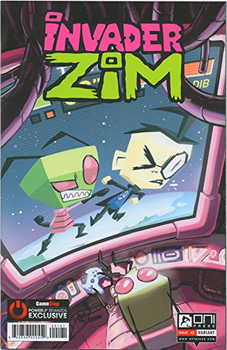 Invader Zim #1 GameStop PowerUp Rewards Exclusive Variant Limited to 1500 Copies Worldwide